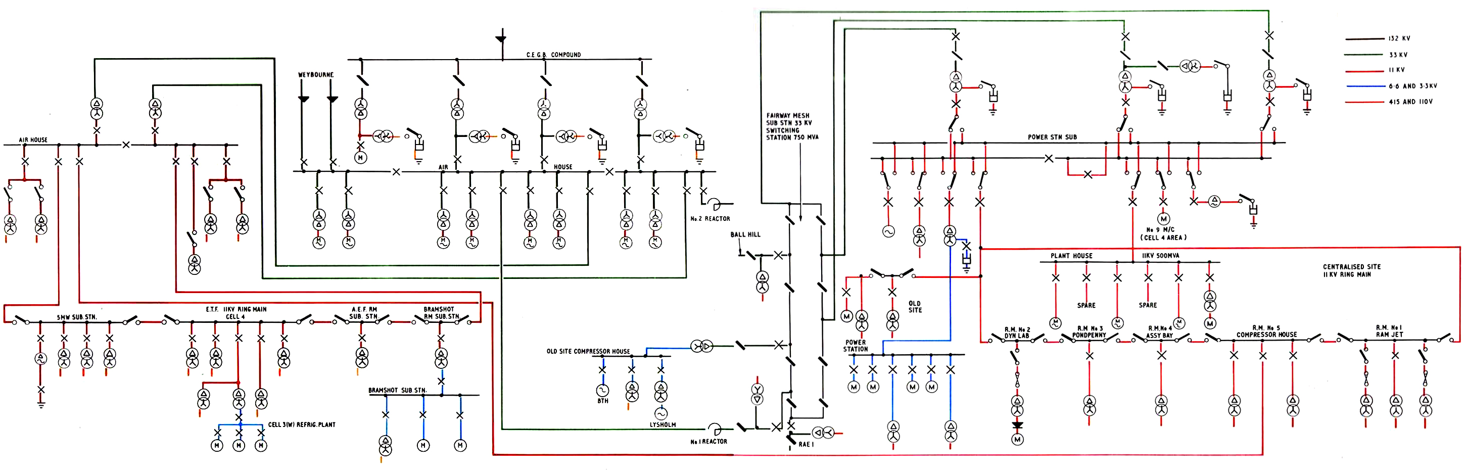Pyestock Power Plant Circuit Layout 52 Diagram Of Electrical Supplies At Ngte